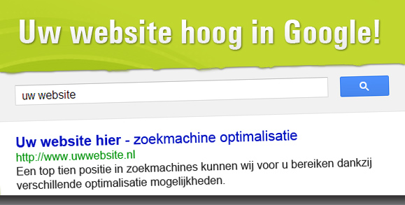 Uw website hoog in google!